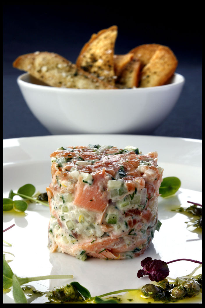 Nick Nairn's Rillette of Smoked, Poached and Hot Smoked Salmon Recipe