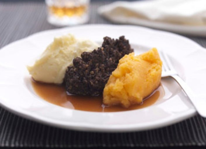 Nick Nairn's Classic Haggis, Neeps an' Tatties with Whisky Gravy