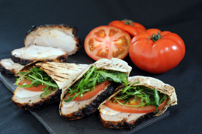 Nick Nairn's Pork Loin Pittas with Fennel & Balsamic Marinade