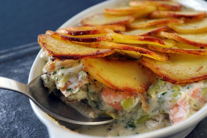 Nick Nairn's Smoked Haddock Pie with Crunchy Tatties Recipe