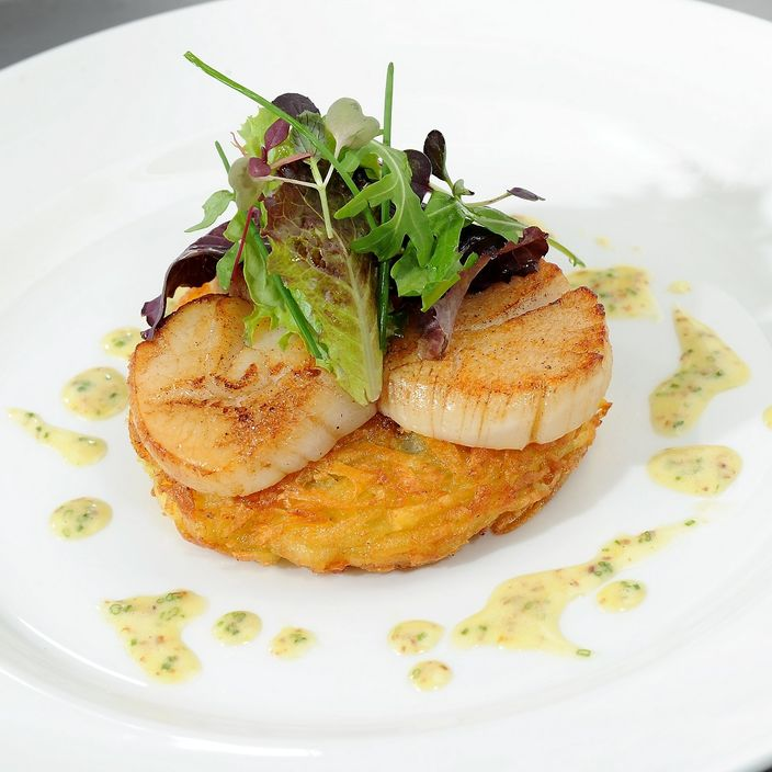 Nick Nairn's Crispy Haggis Rosti with Scallops
