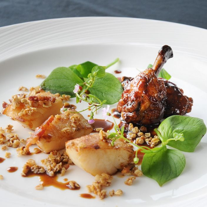 Nick Nairn's Scottish Scallops with Sticky Chicken Wings