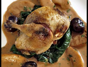 Nick Nairn's Roast Partridge with Apples, Chestnuts and Cider Recipe