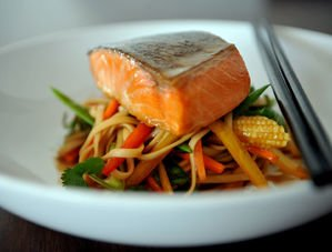 Nick Nairn's Salmon Teriyaki with Crispy Veg