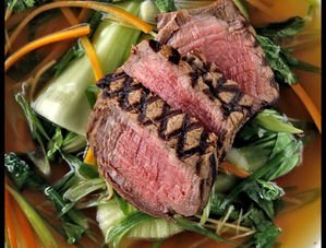 Nick Nairn's Poached fillet of beef with soy and ginger