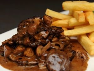 Nick Nairn's Beef Strips and Chips