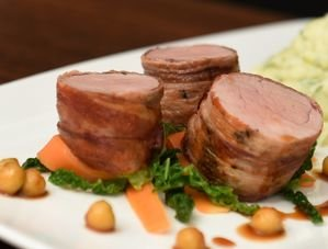 Nick Nairn's Parma Ham Rolled Pork Fillet with Apple Gravy