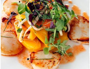 Nick Nairn's Mango & Scallop Salad Recipe