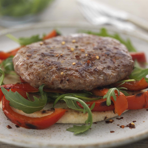 View the Burgers pork and chorizo burger online at Campbells Meat, an award winning online butchers