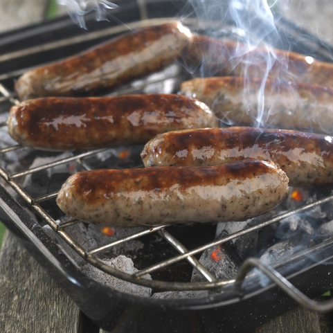 View the Sausages pork haggis and herb sausages online at Campbells Meat, an award winning online butchers