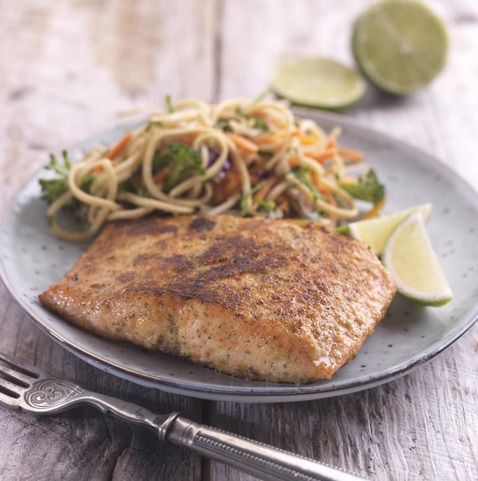 View the Oily Fish salmon fillet (skinless) with sweet chilli & lime coater online at Campbells Meat, an award winning online butchers