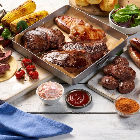 View the Meat Boxes new summer steak meat box online at Campbells Meat, an award winning online butchers