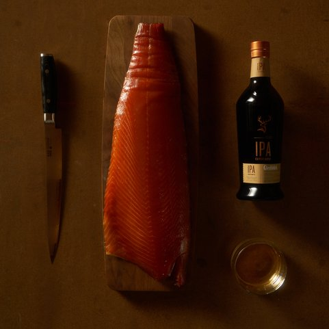 View the Smoked Fish campbells & co glenfiddich whisky smoked salmon 250g pack online at Campbells Meat, an award winning online butchers
