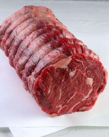View the Beef Roasting Joints for Roast Beef scotch beef rib eye roasting joint online at Campbells Meat, an award winning online butchers