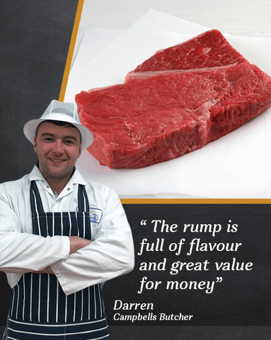 View the Beef Steak darren's rump steak 4 pack online at Campbells Meat, an award winning online butchers