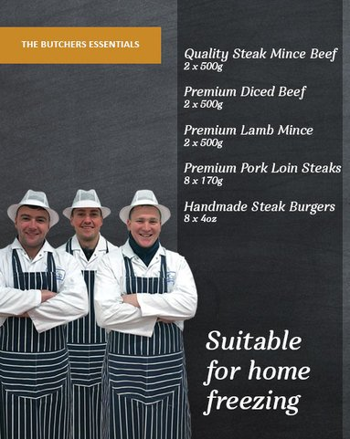 View the Meat Boxes butchers essential meat box large online at Campbells Meat, an award winning online butchers